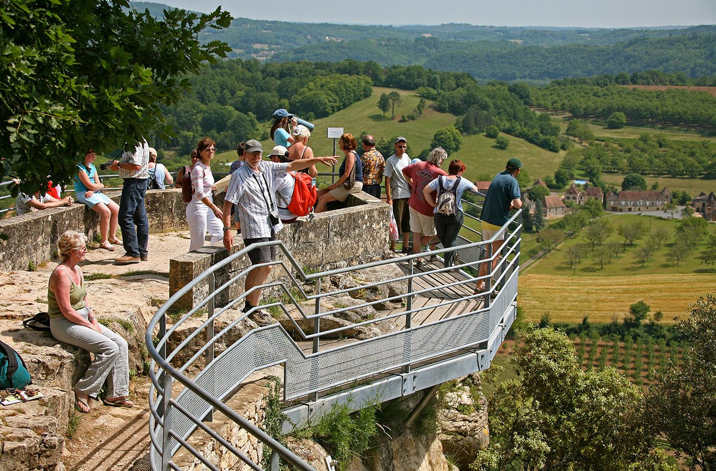 Belvédère de la Dordogne Jardins suspendus de Marqueyssac Vézac Perigord Dordogne