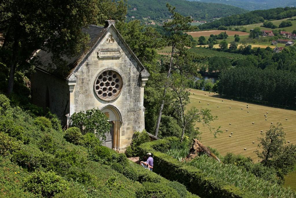 La chapelle Jardins suspendus de Marqueyssac Vézac Perigord Dordogne