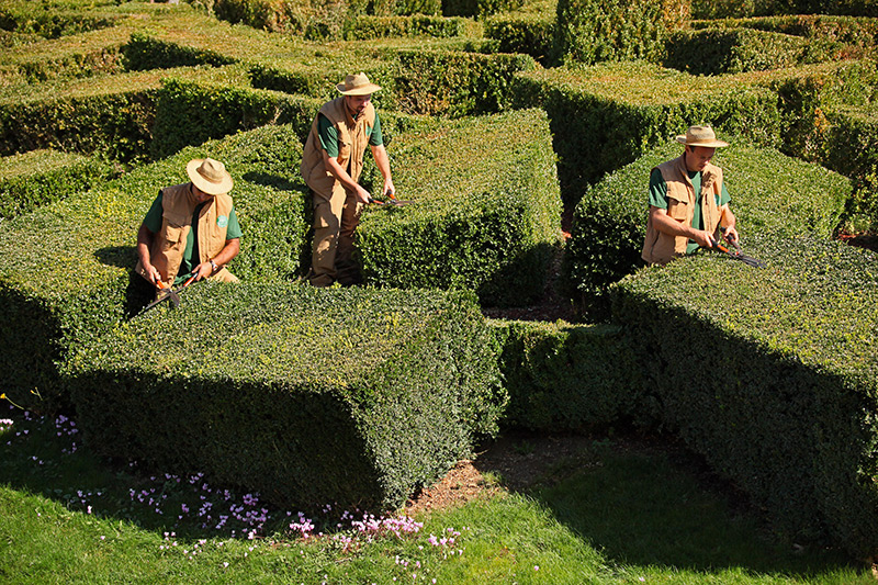 jardiniers Jardins suspendus de Marqueyssac Vézac Perigord Dordogne